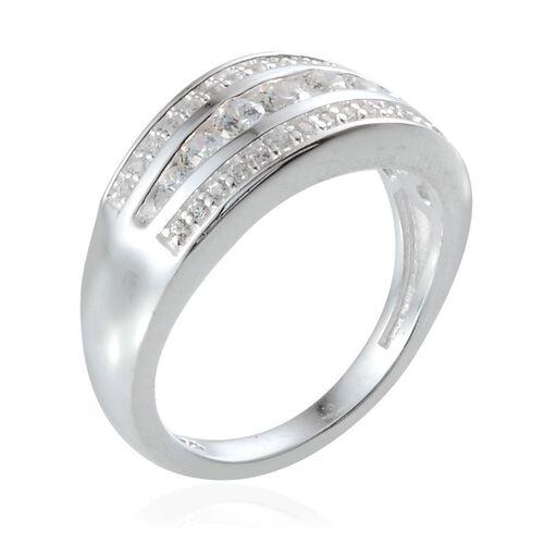 J Francis - Sterling Silver (Rnd) Ring Made with SWAROVSKI ZIRCONIA 0.588 Ct.