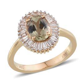 ILIANA 18K Y Gold Natural Turkizite (Ovl 2.00 Ct), Diamond Ring 2.500 Ct.