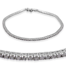 14K W Gold Diamond (Rnd) Tennis Bracelet (Size 7.5) 2.000 Ct.