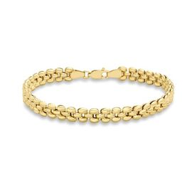 Close Out Deal 9K Y Gold Stampata Link Bracelet (Size 7.5), Gold wt. 6.00 Gms.