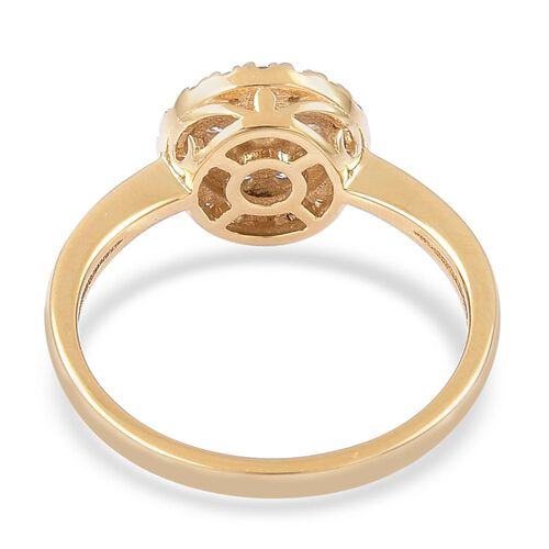 ILIANA 18K Yellow Gold IGI Certified 0.50 Carat Diamond Cluster Ring SI G-H