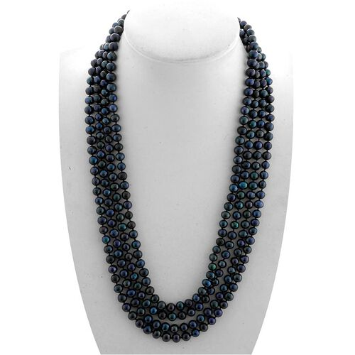 Hong Kong Collection Fresh Water Pearl - Enhanced Blue (770.00 Ct) Necklace (Size 100)