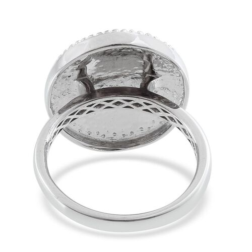 Platinum Overlay Sterling Silver Rocky Shores Ring, Silver wt 7.00 Gms.