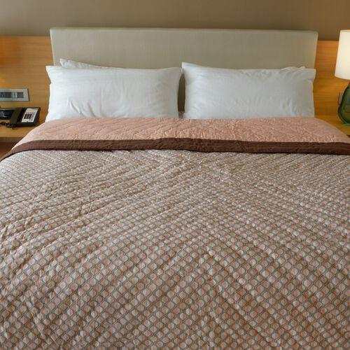 100% Cotton Art Deco Printed Reversible Quilt (Size 240x150 Cm)