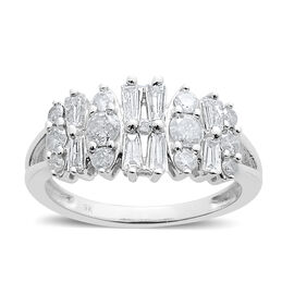 9K W Gold SGL Certified Diamond (Bgt) (I3/ G-H) Ring 1.000 Ct.