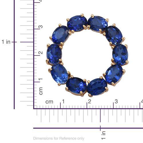 Ceylon Colour Quartz (Ovl) Circle of Life Pendant in 14K Gold Overlay Sterling Silver 15.000 Ct.