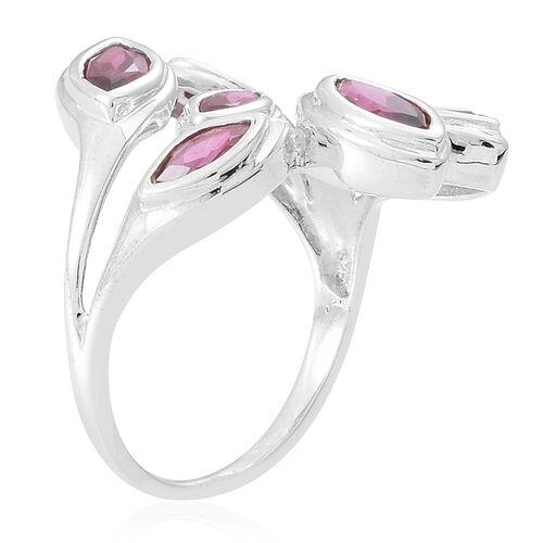 Rhodolite Garnet (Mrq) Ring in Sterling Silver 2.550 Ct.