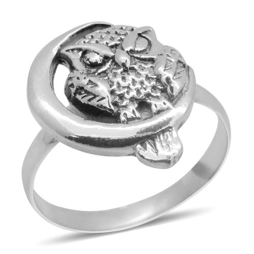 Royal Bali Collection Sterling Silver Owl Ring, Silver wt 4.86 Gms.