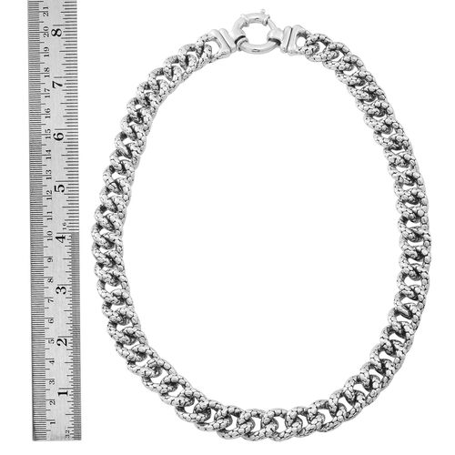 JCK Vegas Collection Sterling Silver Curb Necklace (Size 20), Silver wt. 60.50 Gms.
