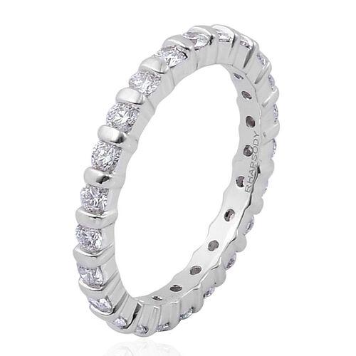 RHAPSODY 950 Platinum 1 Carat IGI Certified Diamond VS E-F Full Eternity Ring