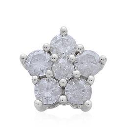 9K White Gold 0.50 Carat SGL Certified Diamond Floral Pendant