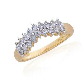 14K Y Gold SGL Certified Diamond (Rnd) (I2/ G-H) Wishbone Engagement Ring 0.500 Ct.