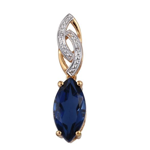 Ceylon Colour Quartz (Mrq 4.50 Ct), Natural Cambodian Zircon Pendant in 14K Gold Overlay Sterling Silver 4.520 Ct.