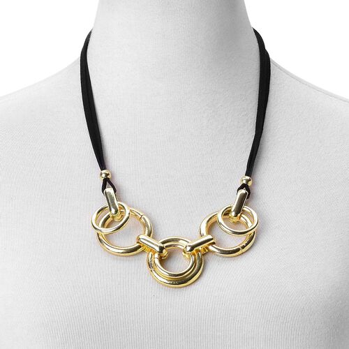 Modern Minimalist Fashion Inspired Necklace (Size 23) in Yellow Gold Tone