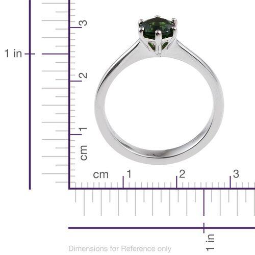 RHAPSODY 950 Platinum 1 Carat Tsavorite Garnet Round Solitaire Ring.