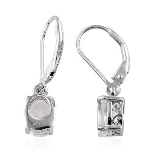 Petalite (Ovl) Lever Back Earrigs in Platinum Overlay Sterling Silver 2.000 Ct.