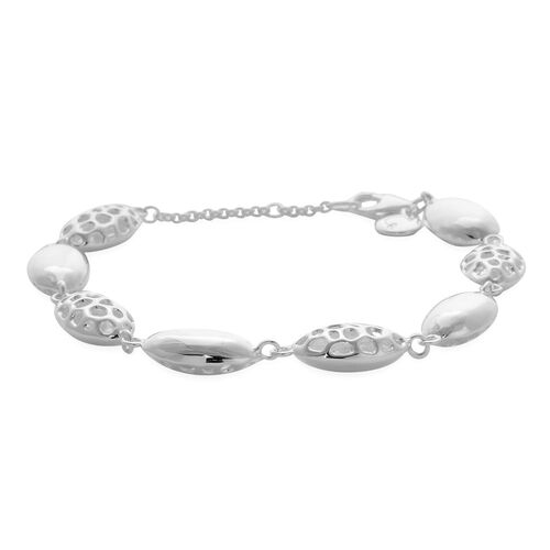 RACHEL GALLEY Sterling Silver Bracelet (Size 7 with 1 inch Extender), Silver wt 10.49 Gms.