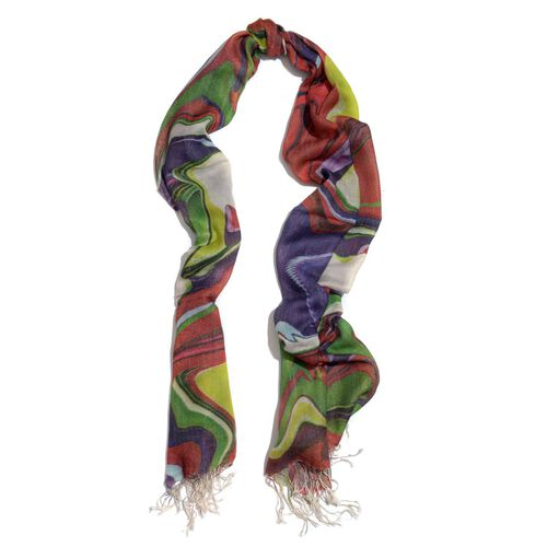 Floral Pattern Multi Colour Scarf (Size 70x180 Cm)