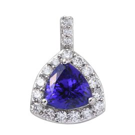 RHAPSODY 950 Platinum AAAA Tanzanite Trillion, Diamond VS E-F Pendant 3.40 Ct.