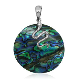 Royal Bali Collection Abalone Shell (Rnd) Pendant in Sterling Silver 30.100 Ct.