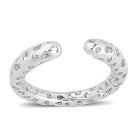 RACHEL GALLEY Rhodium Plated Sterling Silver Lattice Band Ring