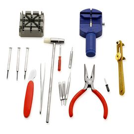 Watch Repair Tool Kit -  (16 Watch Reparing Tools and 10 Japanese Batteries).