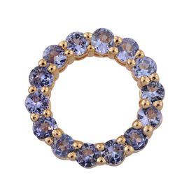Tanzanite (Rnd) Circle of Life Pendant in 14K Gold Overlay Sterling Silver 2.000 Ct.