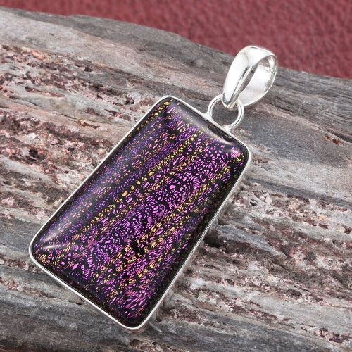 One Time Deal- Purple Camofine Pendant in Sterling Silver