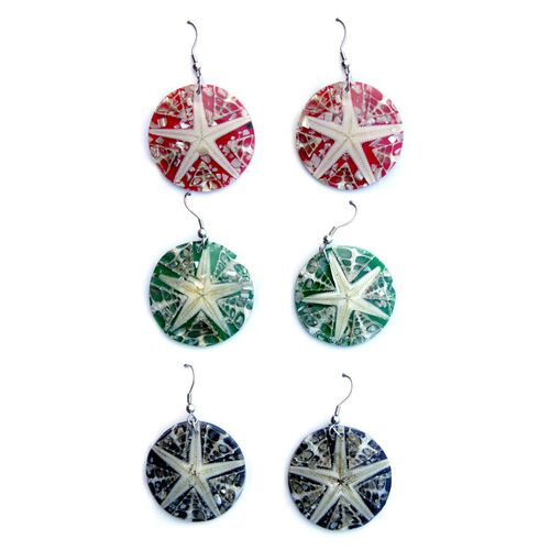 Set of 3 - Royal Bali Collection LABA LABA Shell Earrings in Stainless Steel 162.000 Ct.