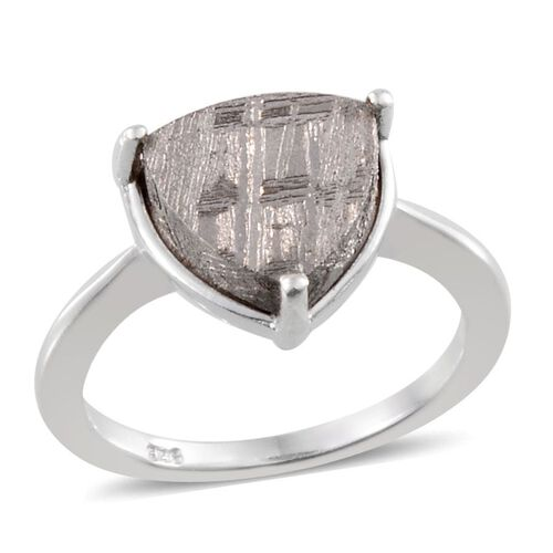 Meteorite (Trl) Solitaire Ring in Platinum Overlay Sterling Silver 7.000 Ct.