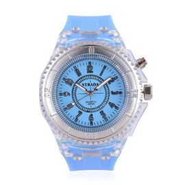 Designer Inspired STRADA  Multi Colour LED Watch with Turquoise Silicone Strap