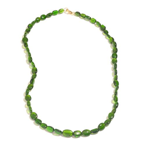 ILIANA 18K Y Gold Russian Diopside Necklace (Size 18) 79.070 Ct.
