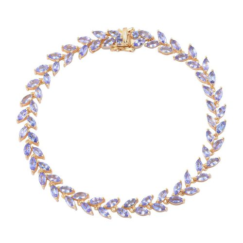 AA Tanzanite (Mrq) Bracelet (Size 7) in 14K Gold Overlay Sterling Silver 8.250 Ct.
