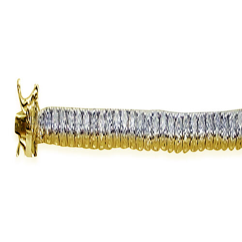 ELANZA AAA Simulated Diamond (Rnd) Bracelet in 14K Gold Overlay Sterling Silver (Size 7.5)