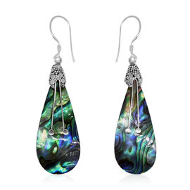 Royal Bali Collection Abalone Shell Hook Earrings in Sterling Silver 13.000 Ct.