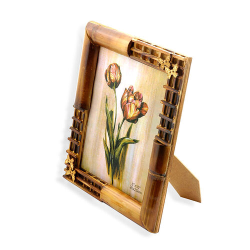 Bamboo Effect Butterfly Photo Frame (Size 8x10 in)