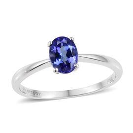 RHAPSODY 950 Platinum AAAA Tanzanite (Ovl) Solitaire Ring 1.000 Ct.