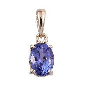 9K Y Gold Tanzanite (Ovl) Solitaire Pendant 1.000 Ct.