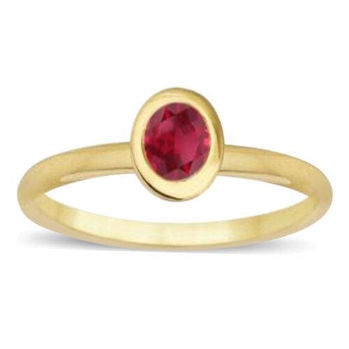 9K Y Gold Burmese Ruby (Rnd) Solitaire Ring 1.500 Ct.