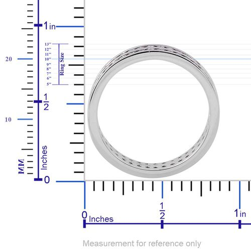 RHAPSODY 950 Platinum 1 Carat Diamond 2 Row Full Eternity Band Ring IGI Certified VS E-F.