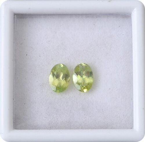 Sava Sphene (Ovl 6x4 mm Faceted 3A) 0.900 Ct.