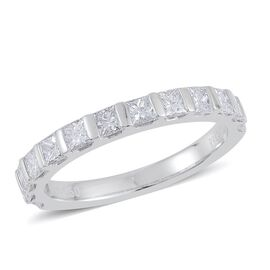 RHAPSODY 950 Platinum IGI Certified Diamond (VVS/E-F) Half Eternity Ring 1.000 Ct.