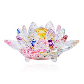 Home Decor - AAA Yellow, Red, Blue and Multi Austrian Crystal and Faceted Glass Lotus