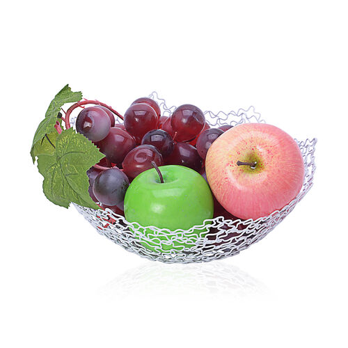 Super Bargain Price Set of 3 - Octagon Shape Fruit Bowl Made of Wire (Size 20.5x7 Cm, 26x8 Cm, 30x8.5 Cm)
