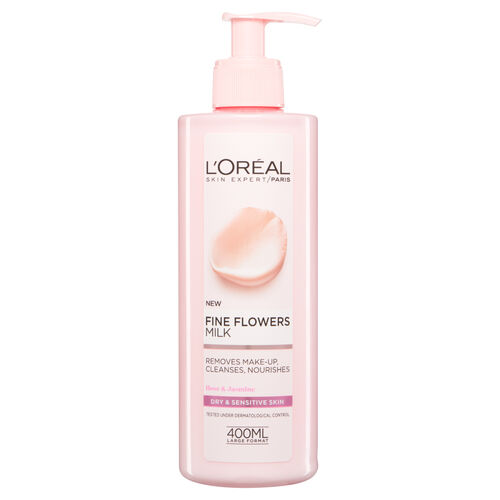 LOreal Paris Fine Flowers Cleansing Milk Dry Skin 400ml