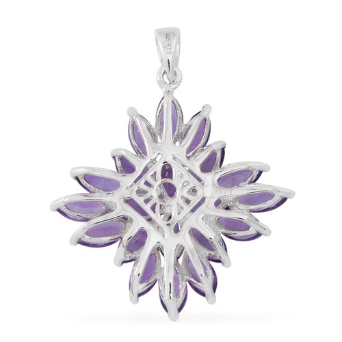 Lusaka Amethyst (Mrq) Pendant in Rhodium Plated Sterling Silver 10.000 Ct.