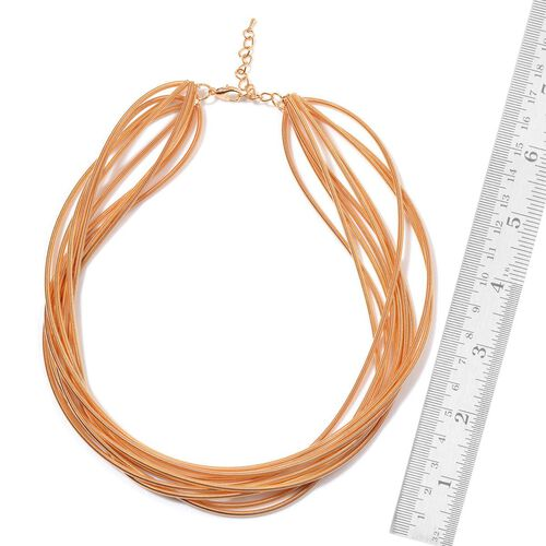 Multi Strand Necklace (Size 18) in Gold Tone