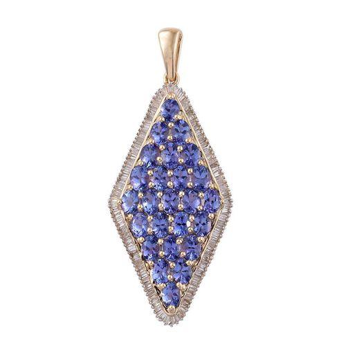 9K Y Gold Tanzanite (Ovl), Diamond Pendant 4.500 Ct.