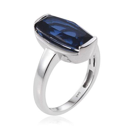 Ceylon Colour Quartz (Cush) Solitaire Ring in Platinum Overlay Sterling Silver 4.500 Ct.