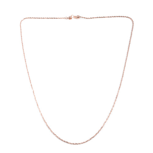 Close Out Deal Rose Gold Overlay Sterling Silver Adjustable Chain (Size 24), Silver wt 4.00 Gms.
